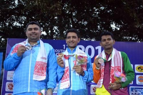 Chain Singh Gagan Narang South Asian Games 2016 gold