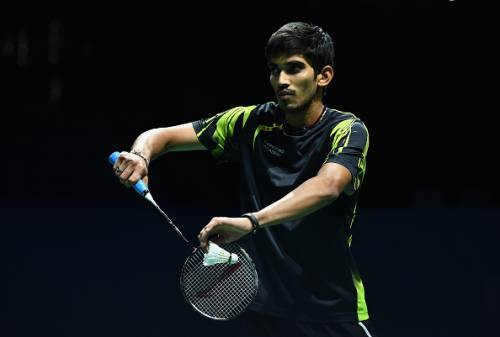 Kidambi Srikanth in an earlier competition