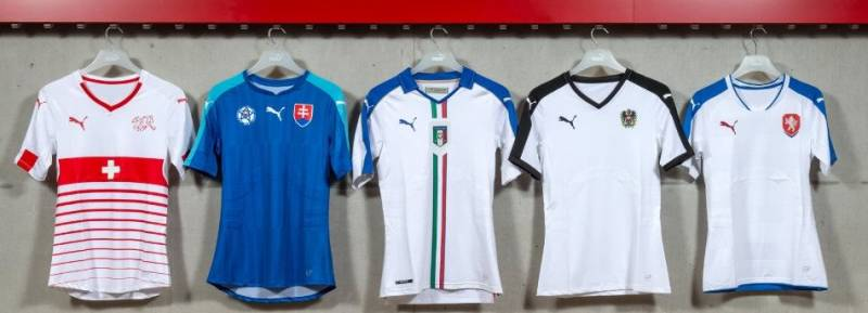 Euro 2016 kits The new kits released by Puma ... 09068a297
