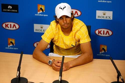 Nadal after his exit from the Australian Open