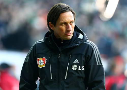 Roger Schmidt refused to leave the pitch