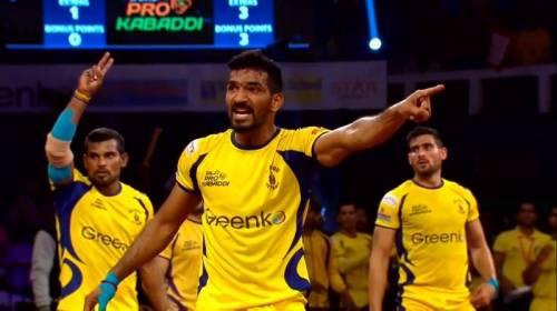 Sukesh Hegde Telugu Titans Pro Kabaddi India