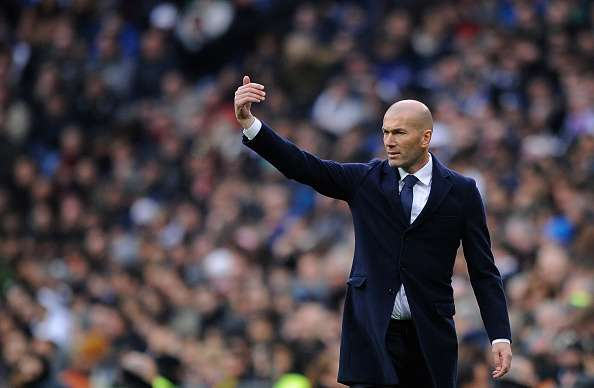 Hasil gambar untuk zinedine zidane real madrid coach