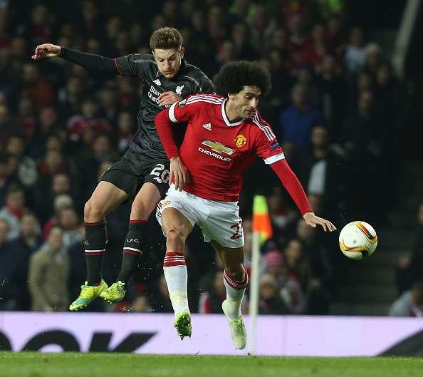 Fellaini Manchester United thug elbow dirty player