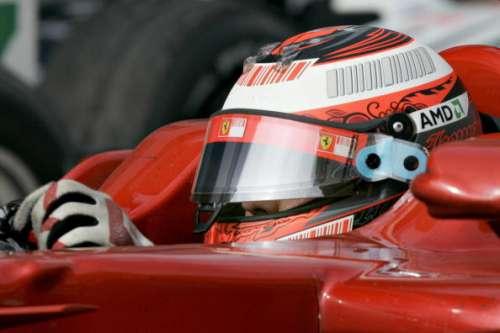 Kimi Raikkonen Ferrari visor