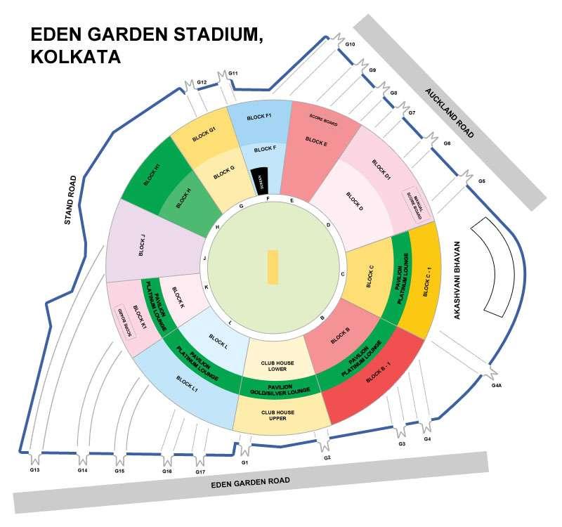 eden gardens stadium kolkata seating arrangement chart layout
