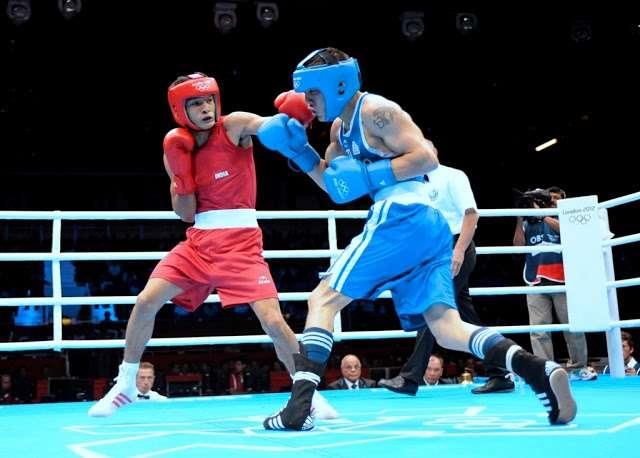 Shiva Thapa at the 2012 London Olympics