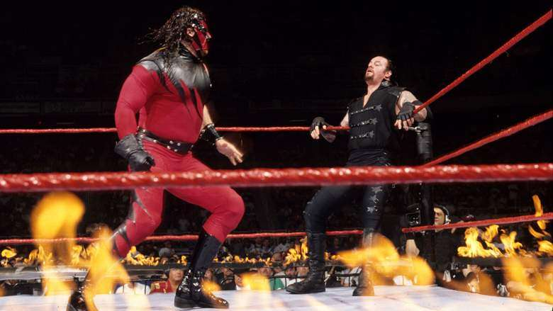 Undertaker Vs Kane Ring Of Fire
