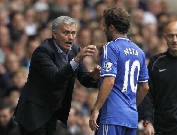 Mourinho Mata Chelsea Manchester United