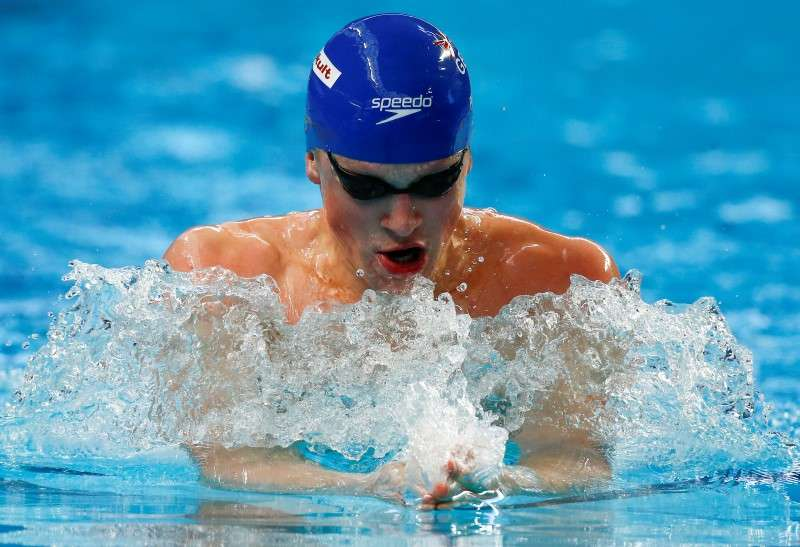 britains adam peaty competes in the mens 200m breaststroke heat at the aquatics world championships in kazan russia august 6 2015