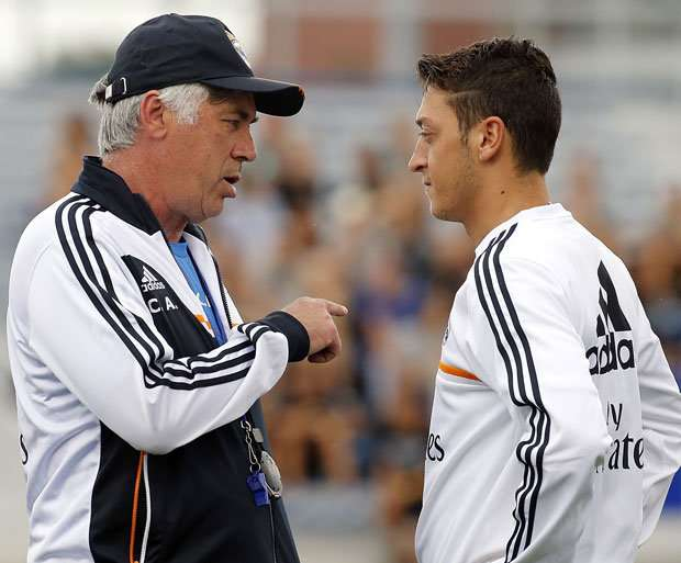 Ancelotti Ozil Real Madrid