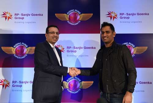 Dhoni and Sanjiv Goenka