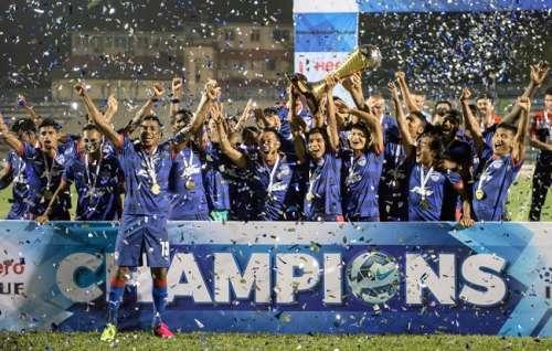 Bengaluru FC 2016 I-League champions trophy