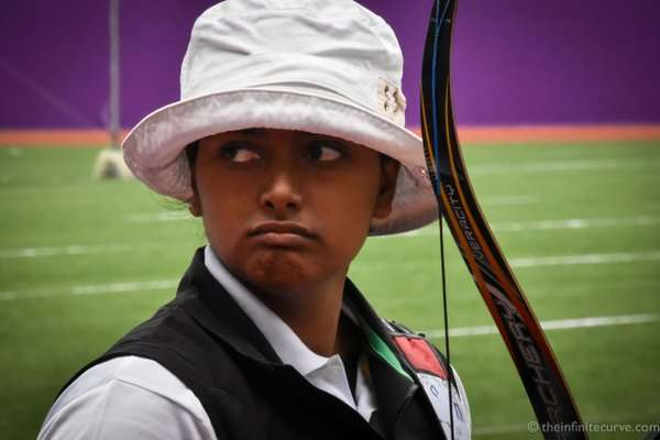 Deepika Kumari in action at the World Cup Stage I in Shanghai on Wednesday (image courtesy: World Archery Twitter)