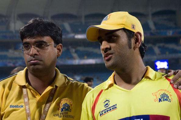 Gurunath Meiyappan with Dhoni at  IPL