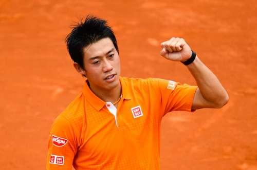 Kei Nishikori after his quarter-final win at Barcelona on Friday