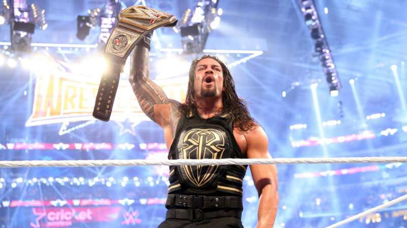 Roman Reign's wins the WWE World Heavyweight Championship