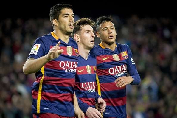 39272ee6aff3 Luis Suarez is the first player in history to score four goals in ...