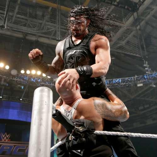 Jason Momoa Vs Roman Reigns: WWE Photos: Roman Reigns Vs. Luke Gallows