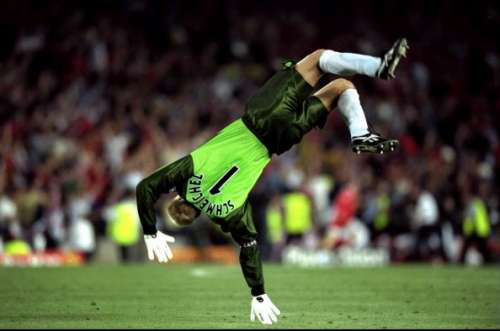 peter schmeichel celebration