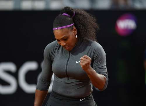 Serena Williams in action at Rome on Tuesday