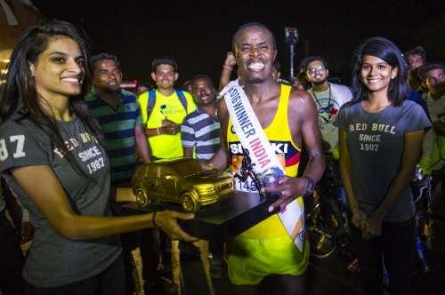 Titus Githu India Winner Wings for Life World Run