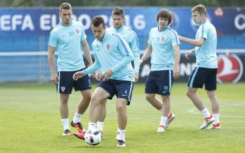 Football Soccer - Euro 2016 - Croatia Training - Parc de Loisirs, Deauville, France - 8/6/16 Croatia's Ivan Perisic during training. REUTERS/John Sibley
