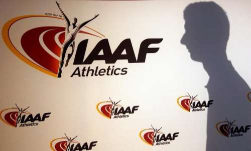 A man casts his shadow following a press conference by Sebastian Coe, IAAF's President, as part of the 203nd International Association of Athletics Federations (IAAF) council meeting in Monaco, March 11, 2016. REUTERS/Eric Gaillard/Files