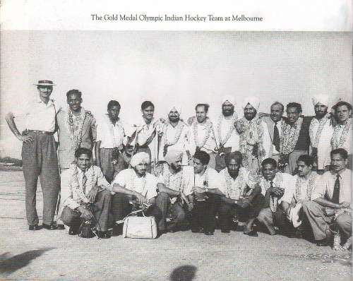 India hockey 1956 Gold Medal Melbourne Olympics Balbir Singh Sr