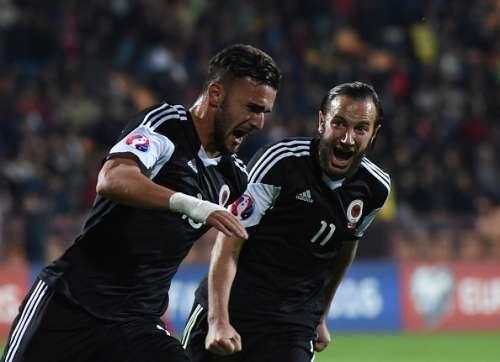 Albania team celebrate