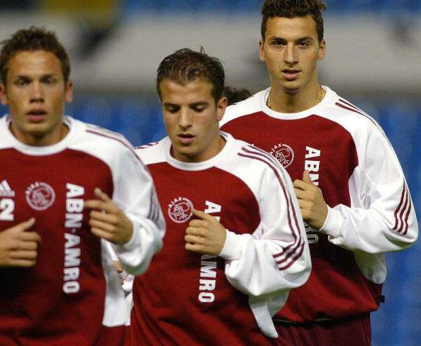Zlatan Ibrahimovic and Rafael Van der Vaart