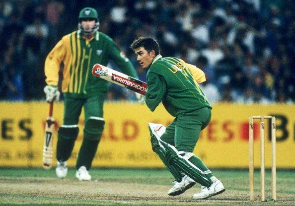 Langer in action during a match against England