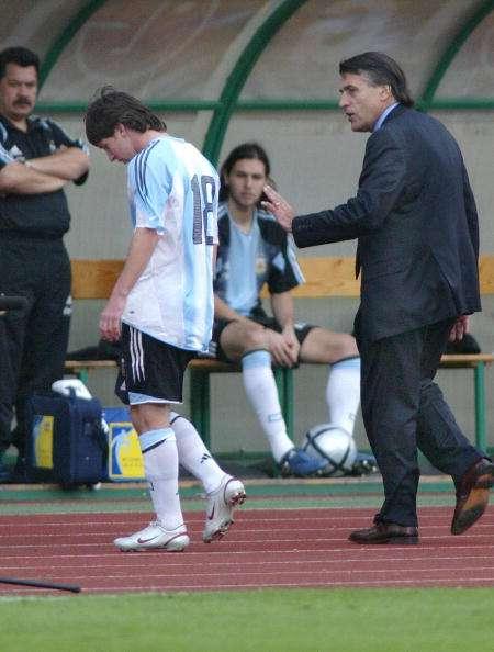 Lionel Messi sent off