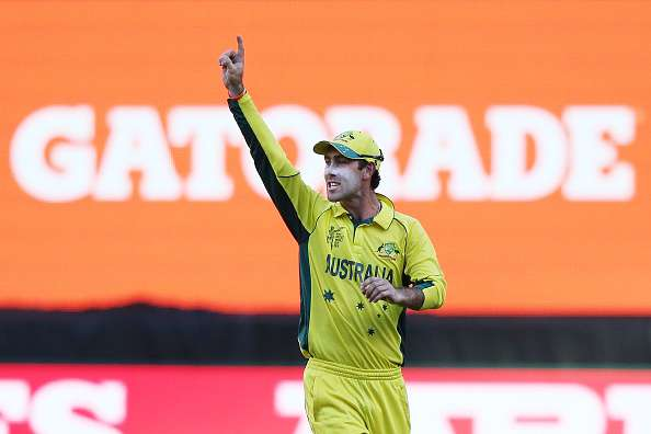 Glenn Maxwell in action against New Zealand