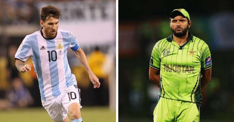 Lionel Messi Shahid Afridi