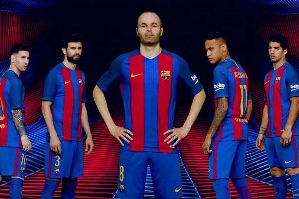 e1ec8818f Barcelona away kit leaked 2016 17 Barcelona officially unveiled ...