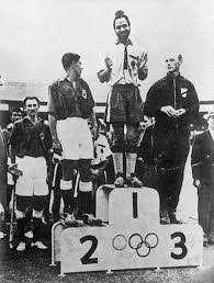 India Balbir Singh Sr. Podium 1956 Olympics Melbourne Hockey Pakistan Germany