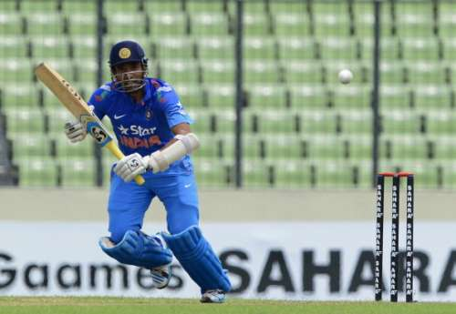 Uthappa during an India A game