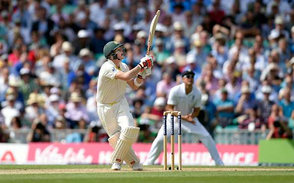 Steven Smith in action against England