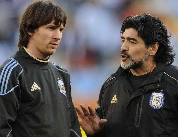 Diego Maradona Lionel Messi