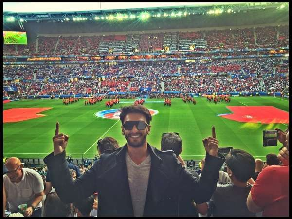 Ranveer Singh watches Portugal vs Wales after buying a ticket as his birthday gift