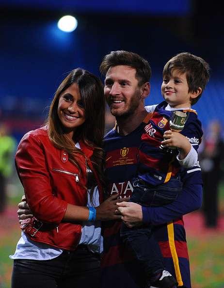 Lionel Messi, Antonella Rocuzzo and their son