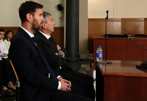 Lionel Messi during his tax fraud trial