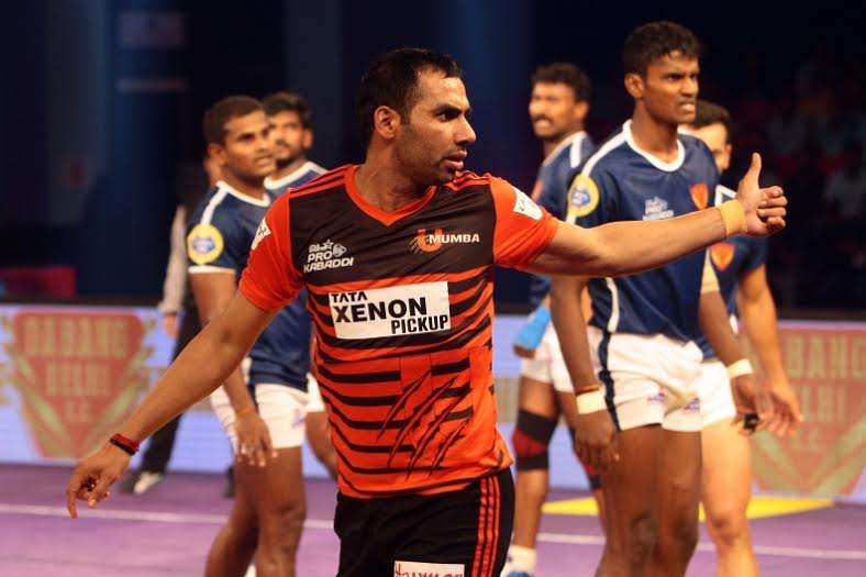 Pro kabaddi 2016 season 4 anup kumar is to u mumba what ms dhoni is u mumba captain anup kumar thecheapjerseys
