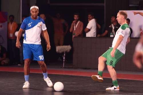 Ronaldinho Premier Futsal Scholes Hat-trick Goa Bengaluru