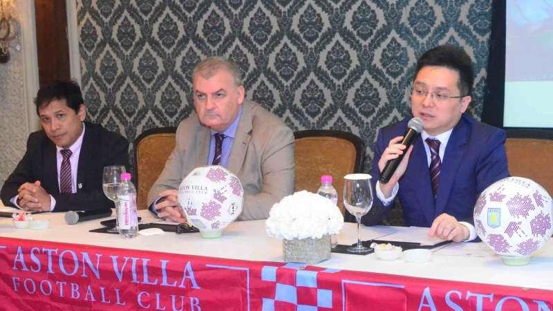 Aston Villa chairman Tony Xia