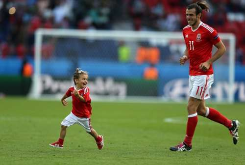 Wales charged pitch celebrations kids Gareth Bale daughter Euro 2016