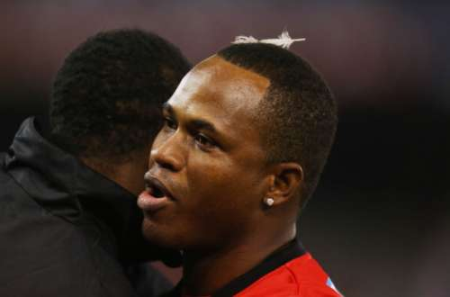 MELBOURNE, AUSTRALIA - JANUARY 02:  Marlon Samuels of the Renegades looks on after the Big Bash League match between the Melbourne Renegades and the Adelaide Strikers at Etihad Stadium on January 2, 2013 in Melbourne, Australia.  (Photo by Scott Barbour/Getty Images)