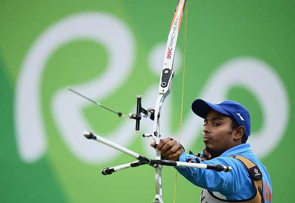 RIO DE JANEIRO, BRAZIL - AUGUST 12: Atanu Das of India competes in the Men