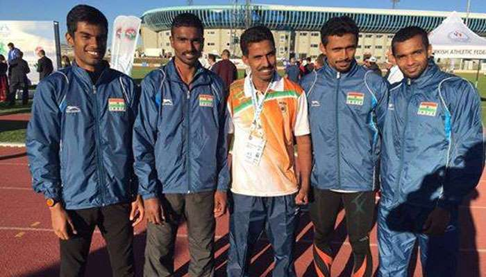 Indian 4x400 Men's relay team clock fastest timing of 2016 in training